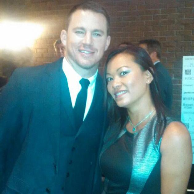 myself and Channing Tatum at Sony Pictures Classics Tiff 2014 dinner