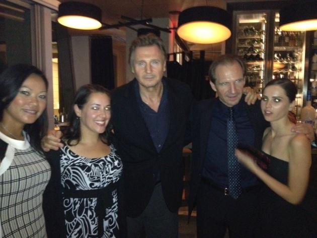 Liam Neeson & Ralph Fiennes & Felicty Huffman