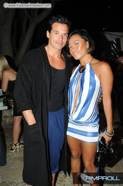 myself w Antonio Sabato Jr at the Playboy mansion 2009