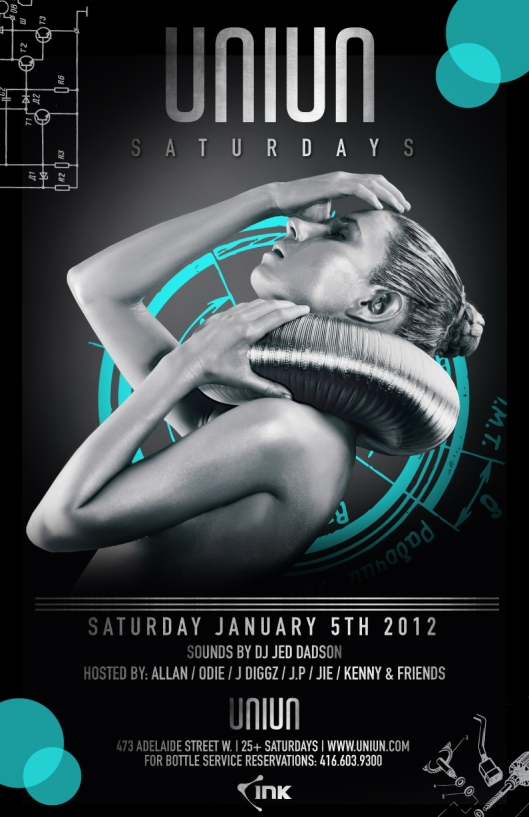 JOIN OMG at our new Sautrday night residency at Toronto's sexiest new club UNIUN!!