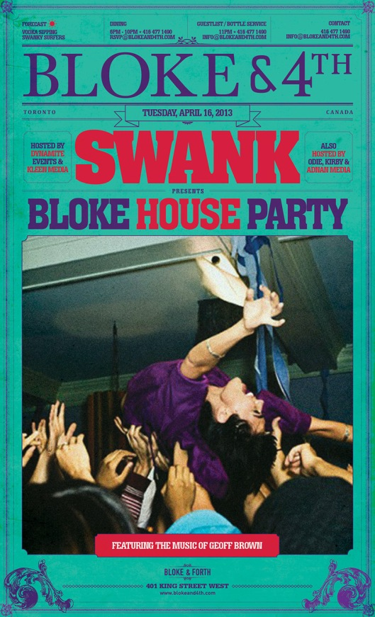 1 BLOKE HOUSE PARTY
