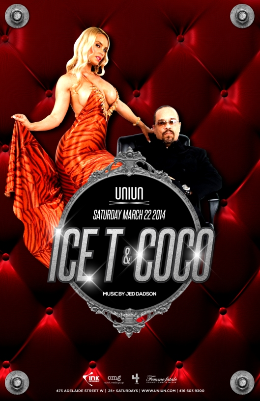 ICE-T & COCO are coming to UNIUN Sat March 22nd!!! Better get ur tables NOW this is gonna sell out FAST!!! 647.999.1747 ‪#‎omg‬ ‪#‎crazieness‬