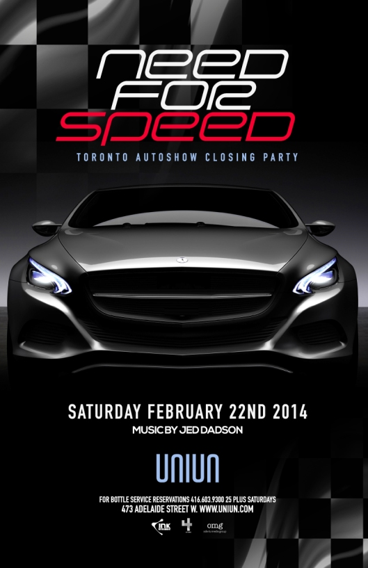 Celebrate motor madness in Toronto with this special event inspired by the auto show!  Some of your favourite vehicles come alive!!  UNIUN SATURDAYS - CUTTING EDGE STYLE, SOUND & ENTERTAINMENT  Doors open at 10pm LADIES FREE TIL 1130 ON GUESTLIST REDUCED COVER ON GUESTLIST TABLES & BOOTHS HIGHLY RECOMMENDED